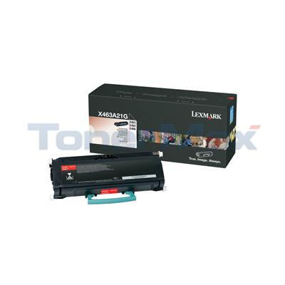 LEXMARK X463DE TONER CART BLK